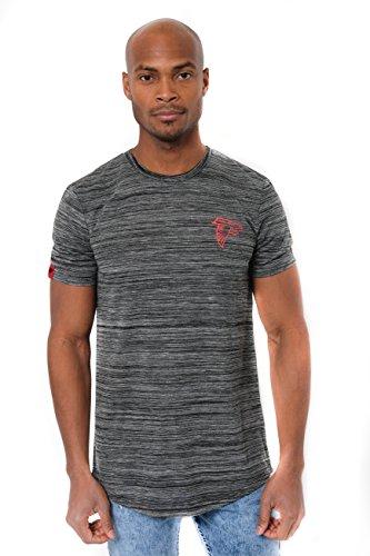 - ICER Brands Men's T Active Basic Space Dye Tee Shirt, Team Color, Black, X-Large