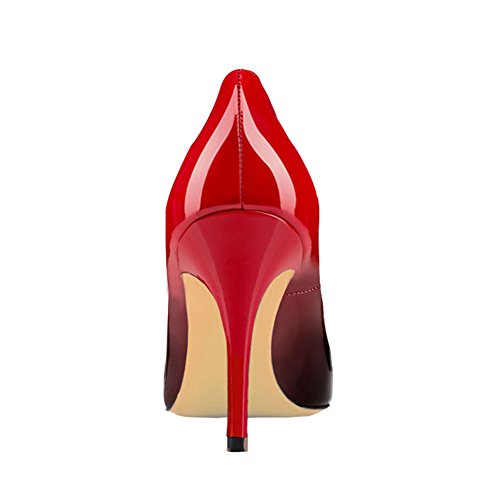 Quotidiani Delle brevetto Alti Rosso Tacchi Donne Pompe Per A Spillo Classici Punta Vocosi Tacchi Punta A Scarpe nero Le Abiti Signore xT8nqRw1X
