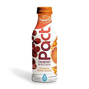 Ocean Spray Pact Cranberry Blood Orange Infused Water, 16 fl oz (Pack of 12)