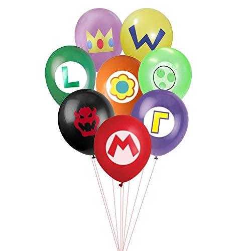 Super Mario Balloons (24 Pcs Super Mario Brothers Emblem Balloons - Large 12
