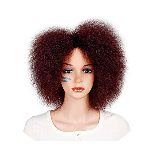 Synthetic Wig Dark Brown Black Red Color Straight Short Wig,#really,6inches]()