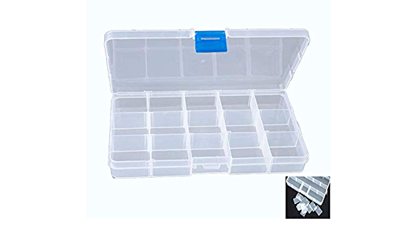 Milepetus 14//10 Compartments Double-Sided Fishing Lure Hook Tackle Box Visible Hard Plastic Clear Fishing Lure Bait Squid Jig Minnows Hooks Accessory Storage Case Container