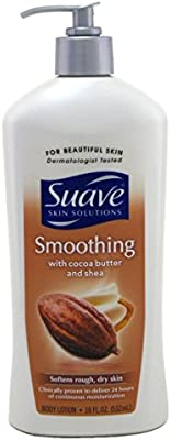 Suave Skin Lotion 18 Ounce Pump Smoothing Cocoa Butter & Shea (532ml) (3 Pack)