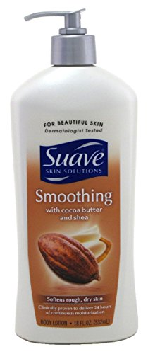 Suave Skin Lotion 18 Ounce Pump Smoothing Cocoa Butter & Shea (532ml) (2 (Suave Cocoa Butter)