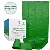 EcoLeo Refills_ Litter Genie, Litter Champ and Litter Locker Compatible Eco-Friendly, Plastic-Free, Compostable, Durable, Replaces Cartridges (Equals 4-Pack of Name Brand)
