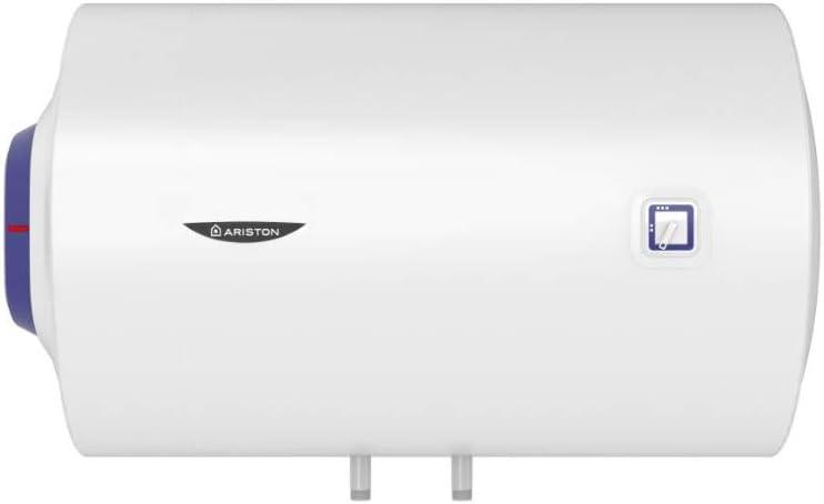 Ariston Termo eléctrico BLU1 Horizontal 80 litros, 230 V, 1500 W, Fabricado para ser instalado en España