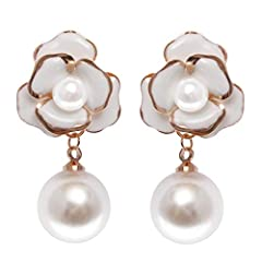 Treat yourseld to this beautiful flower earrings. Not heavy on ears. Do not fade and always stay shiny. Lifetime guarantee. MISASHA products are backed by premium craftsmanship, reliability and true quality assurance for a risk-free purchase ...