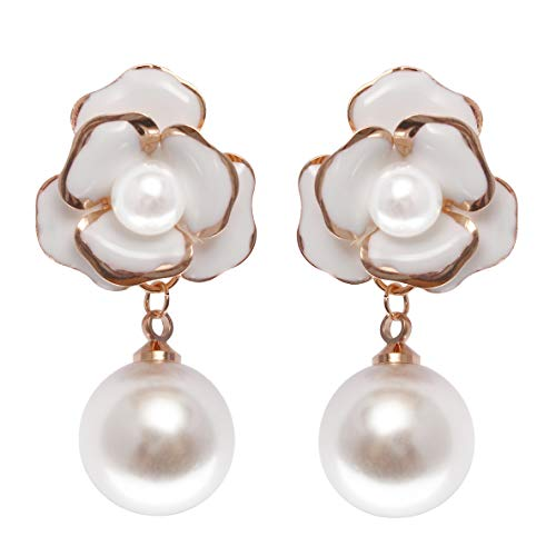 Fashion Jewelry Misasha Rhinestone Celebrity Faux Pearl Bee Dangle Earrings