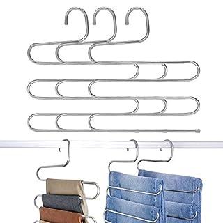 GRANNY SAYS 3 Pack S-Type Magic Pants Hanger,Closet Clothing Organizer