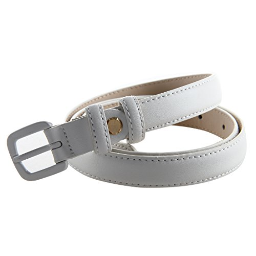 Bpstar Womens Skinny Leather Belt Solid Color with Pin Buckle Simple Waist Belts by Bpstar (Image #3)