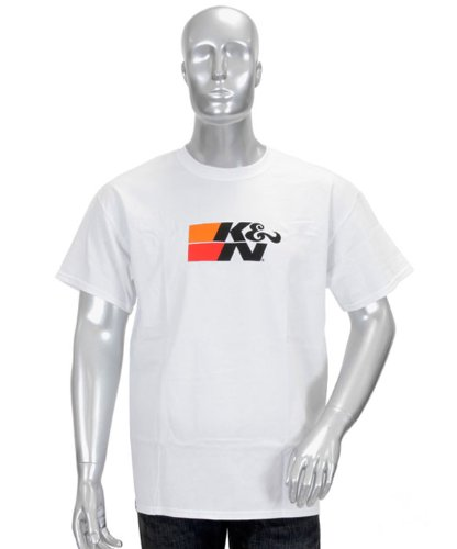 K/&N 88-6006-XXXL White XXX-Large T-Shirt with K/&N Original Logo K/&N Engineering