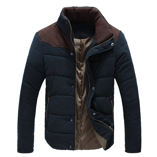 Zeagoo Men's Thermal Wadded Jacket Cotton-padded Thicken Coat Outerwear