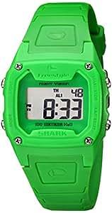 Freestyle Shark Classic - Reloj digital de caballero de cuarzo con correa de goma verde (alarma, cuenta vueltas, luz, cronómetro)
