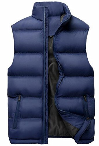 Quilted Men Blue Dark today Up Down UK Vest Sleeveless Collar Jacket Stand Bxw6qU