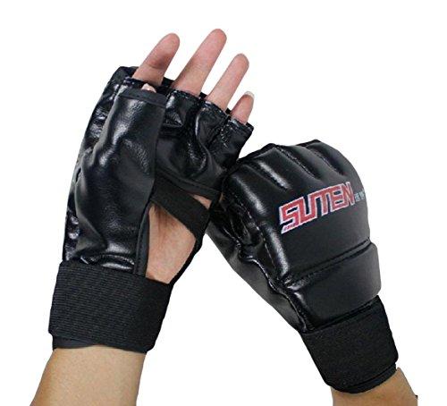 SUTEN MMA Muay Thai Training Punching Bag Half Mitts Sparring Boxing Gym Gloves
