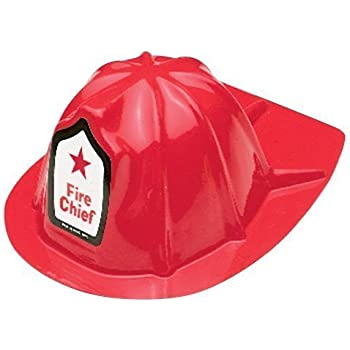 US TOY GROUP LLC -Kids Firefighter Helmets, Plastic, (2-Pack of 12)