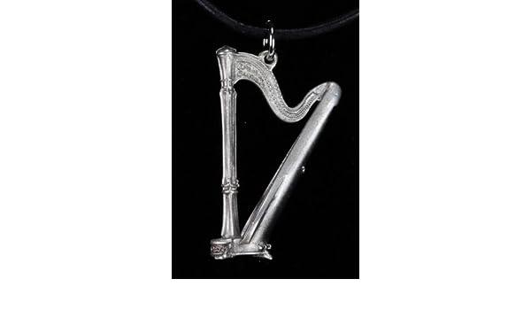 Guitars & Basses Harmony Jewelry Harp Necklace Pewter Necklaces & Pendants