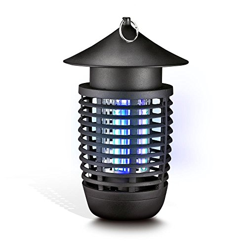 SereneLife UV Mosquito Trap, Battery Bug Zapper Outdoor, Fly Trap Light Indoor, In Home Bug Zapper, Indoor Flying Insect Killer, Chemical Free, 200+ Ft, Flies, Mosquitoes, Beetles, Moths (PSLBZ6) (Powered Bug)