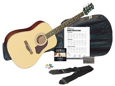 Silvertone SD3000PAK BK -String Acoustic Guitar