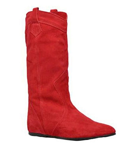 in HGilliane 44 EU Design 11sunshop Customized only 33 to by Rouge Antic Boots Flush Model Suede tffqB4Aw