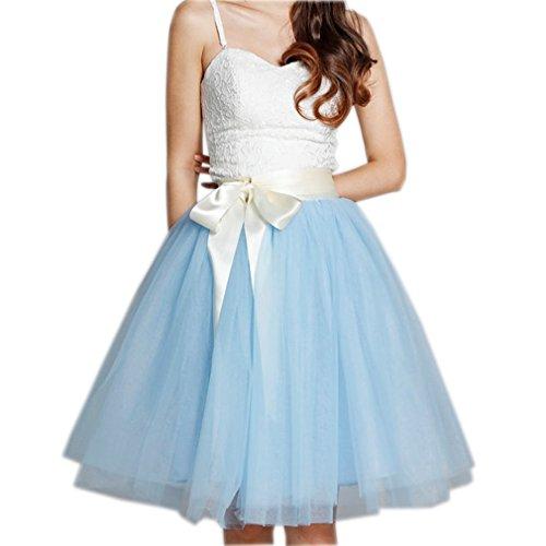 Annes de ud Vintage 5 50 Courte Bleu Tutu Couches avec voile Femme N Jupon Tulle Jupe CoutureBridal 6qBXzz