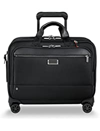 @ Work-Spinner Brief Rolling Briefcase, Black, Large