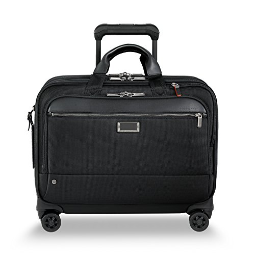 Briggs & Riley @work Large Spinner Briefcase, Black Ballistic Nylon Luggage Sets