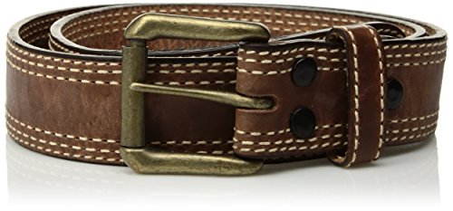 (Mountain Khakis Men's Triple Stitch Belt, Brown,)