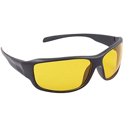 Dervin Yellow Lens Black Frame Night Vision Driving Sunglasses for Men and Women