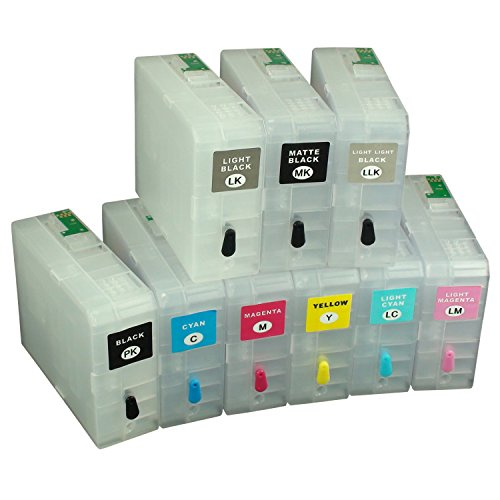 CEYE For EPSON Pro3800 Pro3805 Pro 3800 3805 Empty Refillable Ink Cartridge 80ML 9pcs by CEYE (Image #3)
