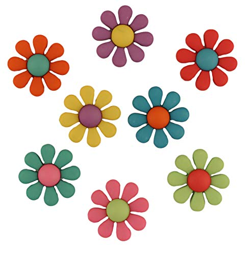 Buttons Galore Craft & Sewing Buttons - Funky Flowers - 3 Packs