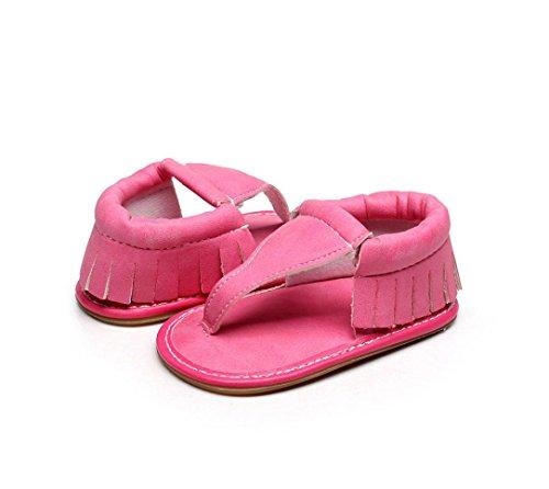 Clode® Kinder Baby Casual Quasten Sandalen Sommer Solide Sohle Krippe Hohl Schuhe Sneaker Hot Pink