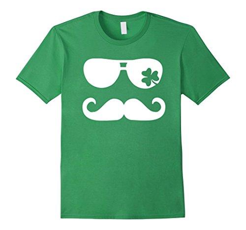 Grey Wizard Beard And Mustache (Mustache Shamrock Beard shirt - Happy St Patrick's Day Tee)