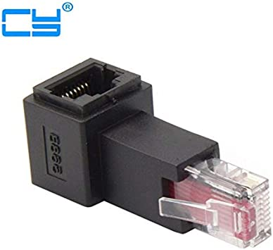 Cable Length: Other Cables Left Angled 90 Degree 8P8C FTP STP UTP Cat 5e Male to Female LAN Ethernet Network Extension Adapter