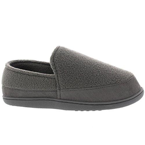 Mujer Pieles Cubierto Ponerse Casa Forrada De Piel Zapatilla Zapato Gris