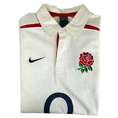 9840d32e3a03 Nike Mens England White Red Rugby O2 Polo T-Shirt Top Sports Sport Size M   Amazon.co.uk  Sports   Outdoors