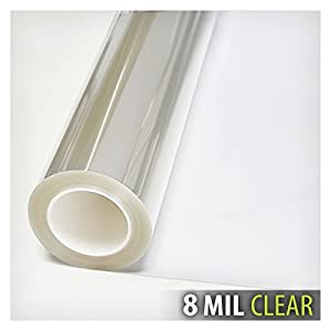 BDF S8MC Window Film Security and Safety Clear 8 Mil (30in X 12ft)
