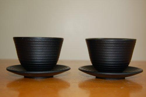 Japanese Style Cast Iron Teapot Set 37 Ounces Cups Trivet by Blue Moon Goods (Image #1)