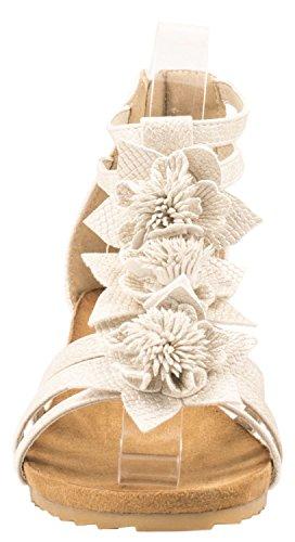 Donna Arancione Alla Cinturino Scarpe Con Caviglia Elara gnOpq08x