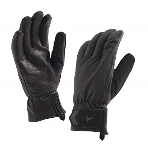 SEALSKINZ 100% Waterproof Glove - Windproof & Breathable - added palm protection, suitable for cycling and activities in All Weather conditions