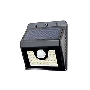 BeeSolar-Aplique de luz con sensor, de color negro, referencia L30