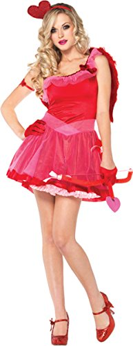 Sexy Cupid Costumes (Leg Avenue Women's Kiss Me Cupid Dress, Red, X-Small)