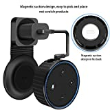 Magnetic Wall Mount Hanger Holder Stand for 2nd Generation, A Space-Saving Solution for Your Smart Home Speakers Without Messy Wires or Screws,Short Charging Cable Included (Red)