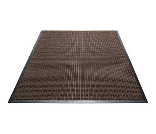 (Guardian WaterGuard Indoor/Outdoor Wiper Scraper Floor Mat, Rubber/Nylon, 3'x5', Brown)