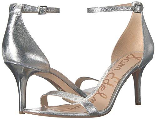 Ouvert 41 Edelman D7035S2 Bout Femme Soft Sam Metallic Silver EU Argenté Leather tgvqp