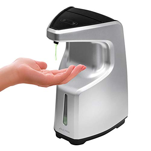 Aultra Automatic Hand Sanitizer Dispenser Touchless Silver Hand Soap Holder & Dish Liquid for Wall Mounted Or Counter…