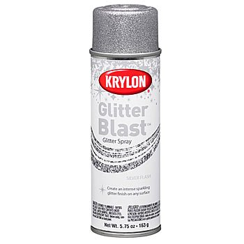 Glitter Aerosol Spray (Glitter Blast Aerosol Spray 5.75 Ounces-Silver Flash)