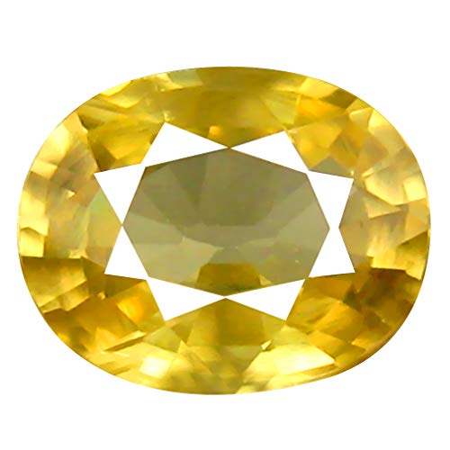 Deluxe Gems 1.35 ct AAA+ Grade Oval Shape (7 x 6 mm) Cambodian Yellow Zircon Natural Genuine Loose Gemstone
