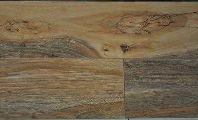 8mm High Gloss Pad Attached Wood Laminate Flooring - Tortilla