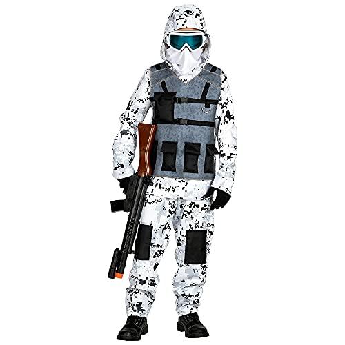 Widmann 01716 Arctic Special Forces Costume pour garçon Blanc/Gris 128 cm